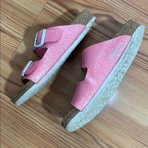 Birkenstocks Pink sparkle sandals Size 31 13